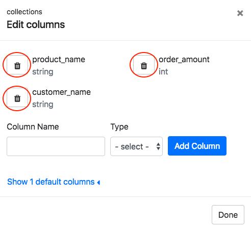 Remove Data Column